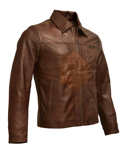 Mens Inception Cobb Vintage Genuine Leather Jacket 2019