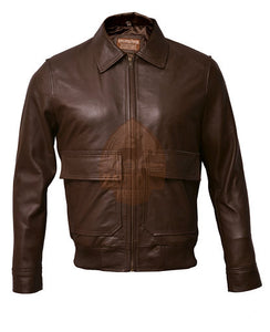 Aviator A2 Flight Distressed Brown Real Leather Bomber Jacket