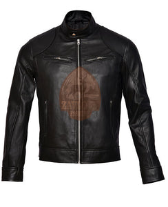 Cafe Racer Vintage Genuine Leather Jacket Black or Brown