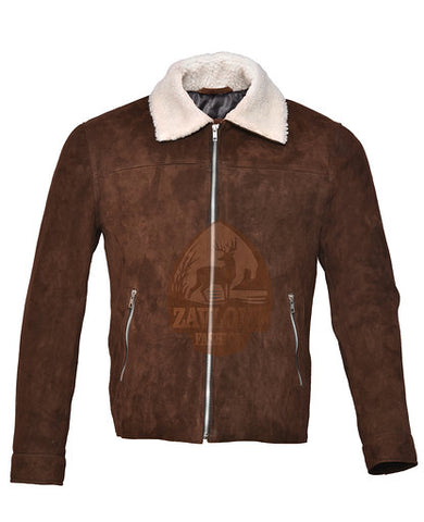 Suede Brown Biker Leather Jacket