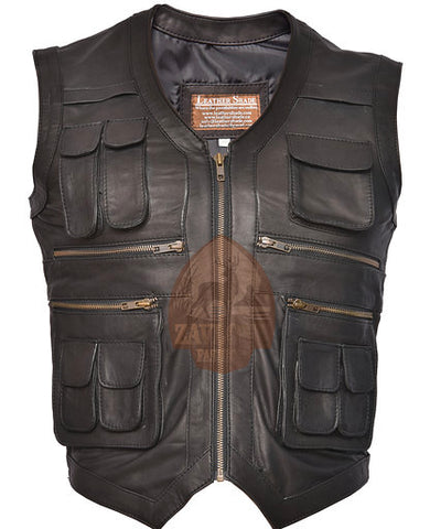Buy Real Leather Vest - Men's Jacket Jurassic World 2019
