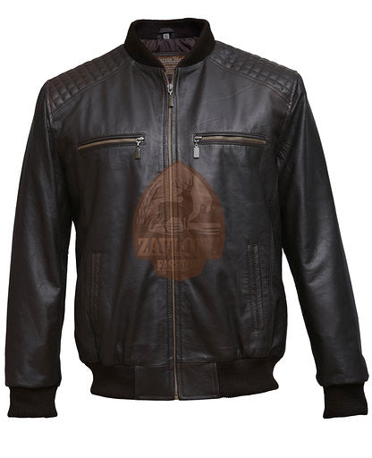 Biker Bomber Genuine Leather Jacket 2020