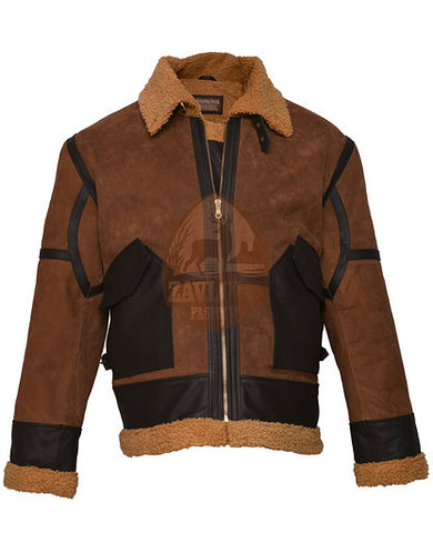 Buy Luke Even Ginger Brown Genuine Leather Jacket 2019