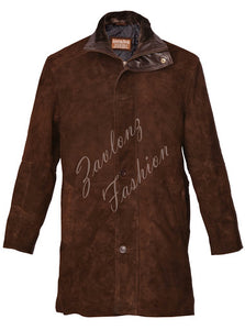 Longmire Sheriff Coat Suede Leather
