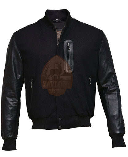 Buy Genuine Leather and Wool Jacket 2019