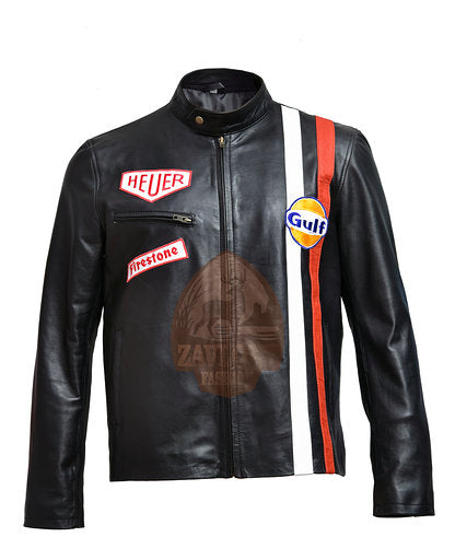 steve mcqueen leather jacket great escape