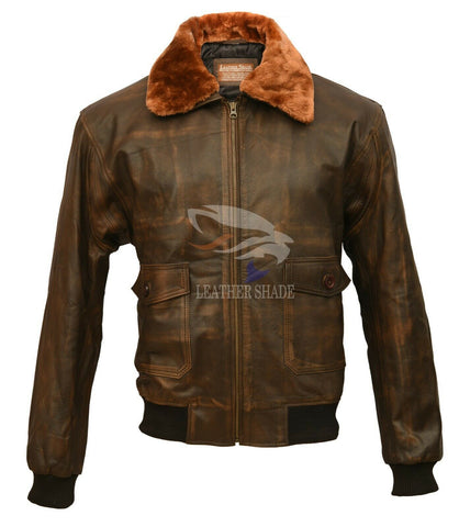 Aviator G1 Vintage Biker Moto Brown Retro Slim Racer Real Leather Jacket