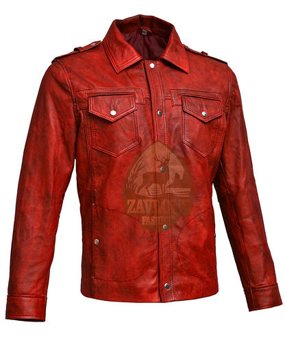 Retro Smart Leather Biker Shirt Jacket - Tan & Timber 2019