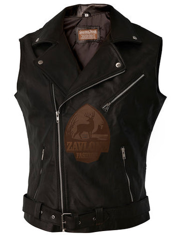 Genuine Leather Biker Vest