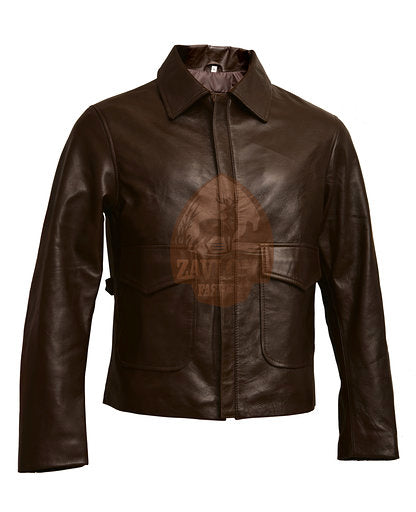Distressed Genuine Leather Jacket Indiana Jones Harrison Ford
