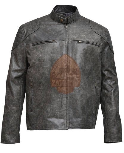 Retro Biker Distressed Real Leather Antique/Vintage