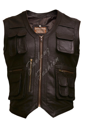 Men's Real Leather Vest