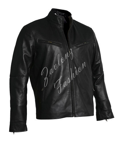 Black Leather Jacket Vin Diesel Fast & Furious