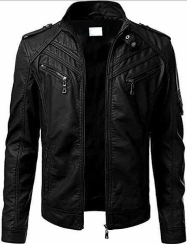 Genuine Leather Jacket Black 2020