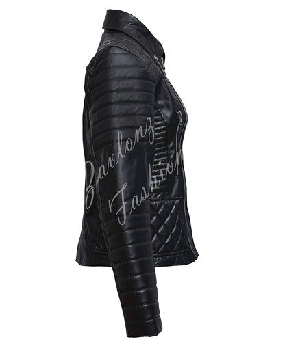 Leather Jacket Black - Rosie Huntington Whiteley