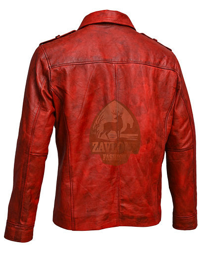 Retro Smart Leather Biker Shirt Jacket