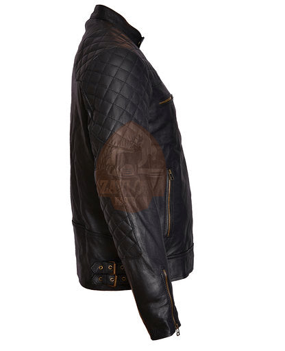 Genuine Leather Biker Jacket - David Backham Jacket Vintage Slim Fit 2020