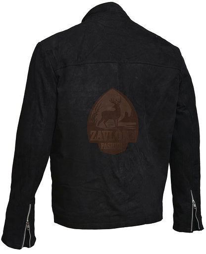Men's Leather Jackets Suede Leather Jacket - Black and Brown 2020
