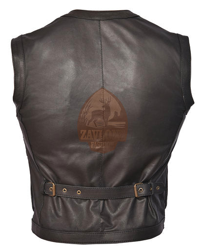 Buy Real Leather Vest - Men's Jacket Jurassic World