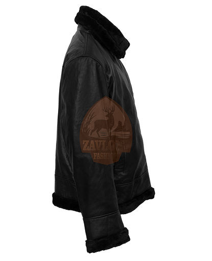 WW 2 B3 Bomber Pilot Flight Aviator Flying Bomb Leather Jacket Brown