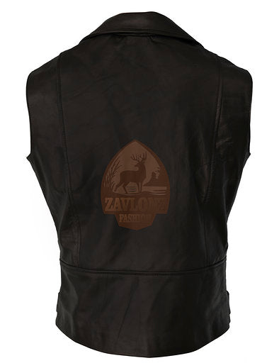 Genuine Leather Biker Vest - 2020