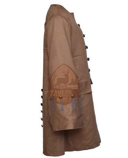 Pirates of the Caribbean Jack Sparrow Coat Suit Cosplay Costume Attire Jacket