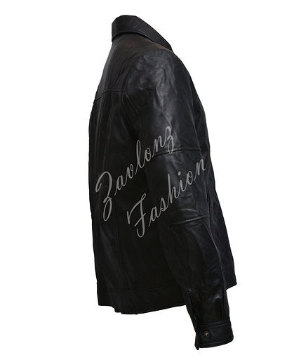 Mens Real Leather Biker Jacket - Hugh Jackman 2020