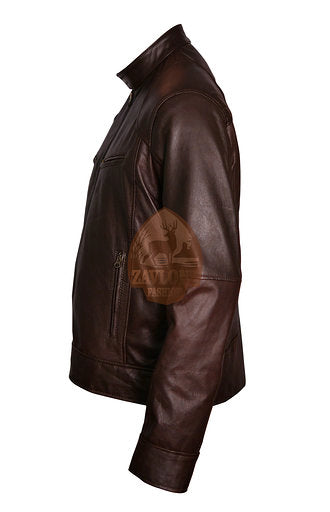 Cafe Racer Vintage Genuine Leather Jacket Black or Brown 2020
