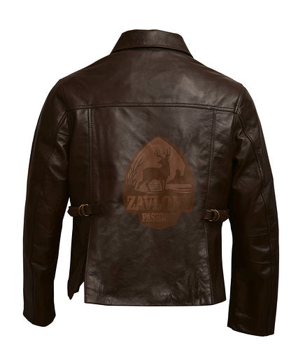 Distressed Genuine Leather Jacket Indiana Jones
