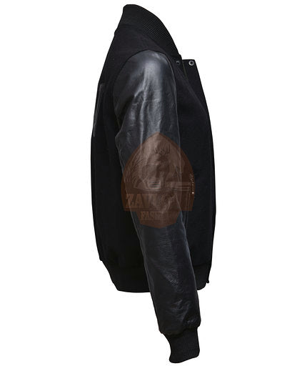 Genuine Leather and Wool Jacket 2019