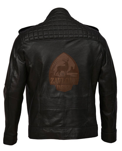 Retro Moto Distressed Leather Jacket Triple Stitch 2019