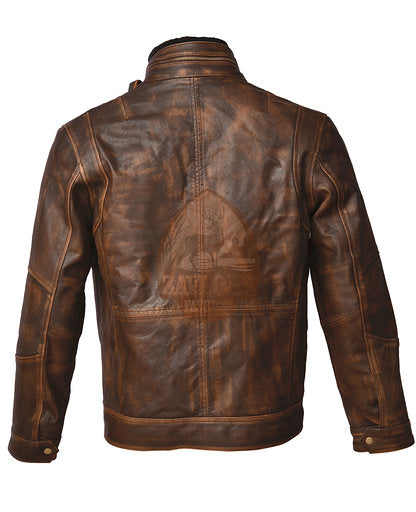 Cafe Racer 2 Distressed Brown Genuine Leather Jacket 2020