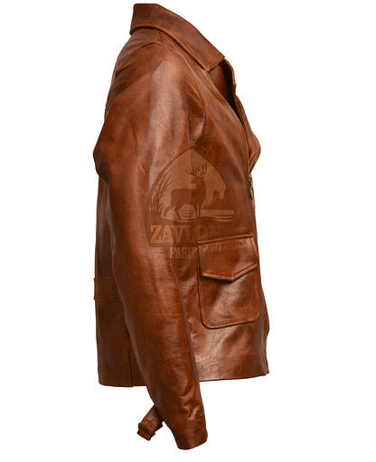 captain america brown leather jacket