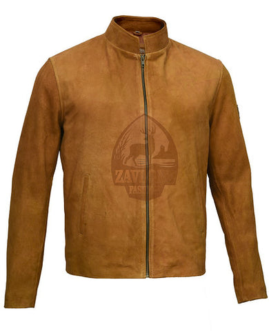 Men's Leather Jackets Suede Leather Jacket Brown 2019