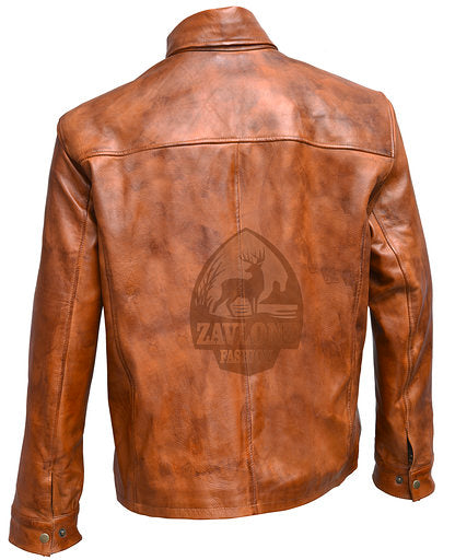 Buy Retro Smart Leather Biker Shirt Jacket 2019