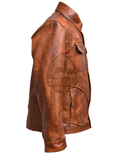 Retro Smart Leather Biker Jacket