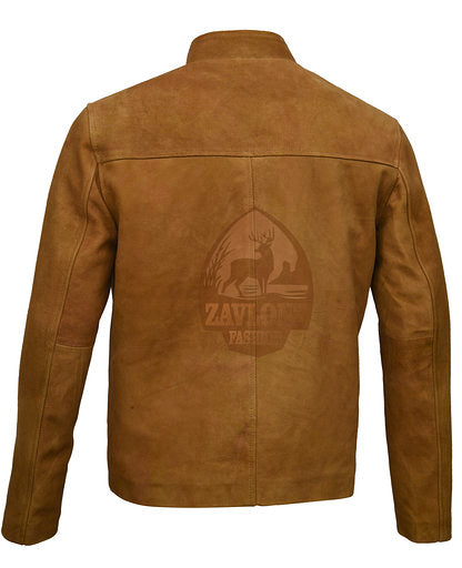 Men's Leather Jackets Suede Leather Jacket Brown
