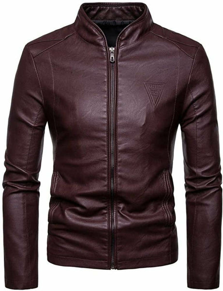 Genuine Leather Jacket Black and Brown