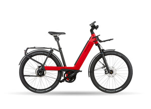 Riese Muller Nevo3 GT Rohloff Dynamic Red Metallic with GX Option & Front Carrier