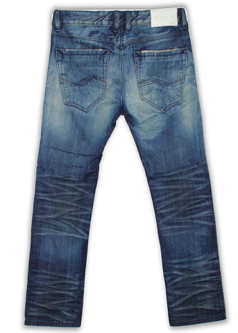150-140M Thyme Blue Wash Jeans - Rivet De Cru Jeans - Premium Denim - Mens Fashion - Mens Clothing - Mens Jeans - Mens Denim - 2