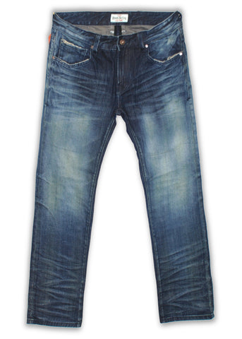 150-140M Thyme Blue Wash Jeans - Rivet De Cru Jeans - Premium Denim - Mens Fashion - Mens Clothing - Mens Jeans - Mens Denim - 1