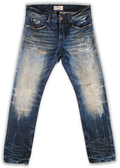150-141M Pebbles Blue Wash Jeans - Rivet De Cru Jeans - Premium Denim - Mens Fashion - Mens Clothing - Mens Jeans - Mens Denim - 1