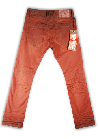 151-139M Red Ochre Wash Jean - Rivet De Cru Jeans - Premium Denim - Mens Fashion - Mens Clothing - Mens Jeans - Mens Denim - 2
