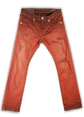 151-139M Red Ochre Wash Jean - Rivet De Cru Jeans - Premium Denim - Mens Fashion - Mens Clothing - Mens Jeans - Mens Denim - 1