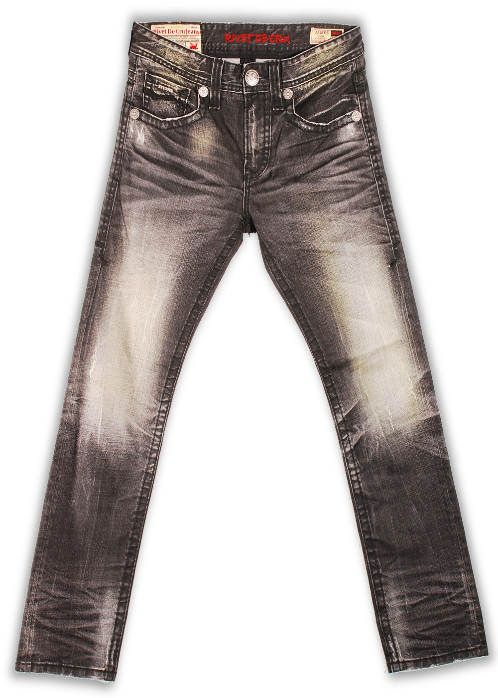 151-143M Tarmac Wash Jean - Rivet De Cru Jeans - Premium Denim - Mens Fashion - Mens Clothing - Mens Jeans - Mens Denim - 1