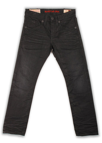 157-174M Caviar Black Jeans - Rivet De Cru Jeans - Premium Denim - Mens Fashion - Mens Clothing - Mens Jeans - Mens Denim - 1
