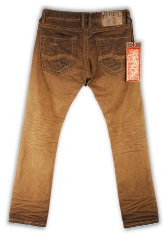 153-149M Bistre Brown Jeans - Rivet De Cru Jeans - Premium Denim - Mens Fashion - Mens Clothing - Mens Jeans - Mens Denim - 2