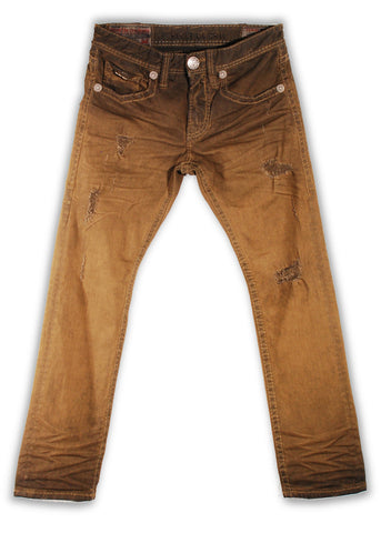 153-149M Bistre Brown Jeans - Rivet De Cru Jeans - Premium Denim