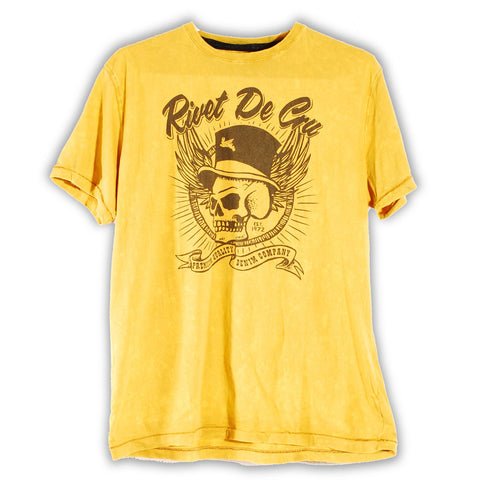 153-256 Top Hat T-Shirt - Rivet De Cru Jeans - Premium Denim - Mens Fashion - Mens Clothing - Mens Jeans - Mens Denim - 1