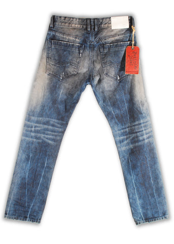 157-111M Opal Blue Jeans - Rivet De Cru Jeans - Premium Denim - Mens Fashion - Mens Clothing - Mens Jeans - Mens Denim - 2